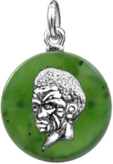 Maori Chiefs Head on Nephrite Disc