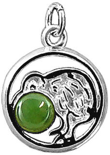 Kiwi with Nephrite Jade/greenstone