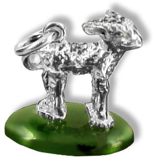 Lamb on a Nephrite Jade base