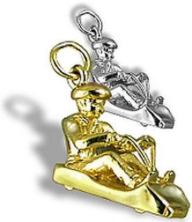 Silver And Gold Tennis Cricket Rugby Silver Charms