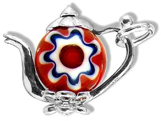 Teapot with Red Millefiori Bead