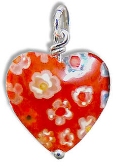 Milifiori Style Heart, Red