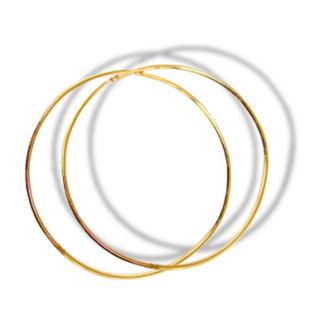 9ct 20mm Hand Made Hoops