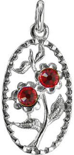 Floral Red Charm or pendant