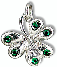 Shamrock with Crystals