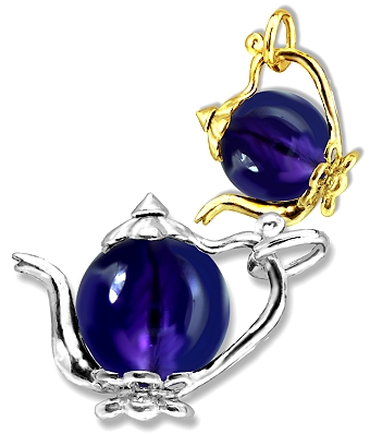 Teapot with Amethyst