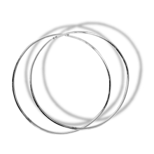 30mm Silve Hand Made Fine Hoops
