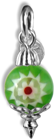 Christmas Decoration Green Millefiori